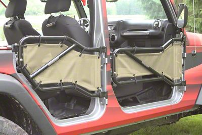 Steinjager Front & Rear Tube Door Covers - Almond (07-18 Jeep Wrangler JK 4 Door)