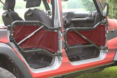 Steinjager Front & Rear Tube Door Covers - Burgundy (07-18 Jeep Wrangler JK 4 Door)