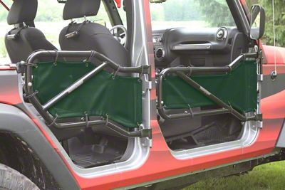Steinjager Front & Rear Tube Door Covers - Dark Green (07-18 Jeep Wrangler JK 4 Door)