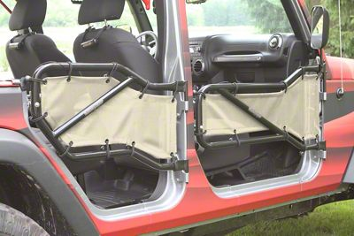Steinjager Front & Rear Tube Door Covers - Gray Sand (07-18 Jeep Wrangler JK 4 Door)