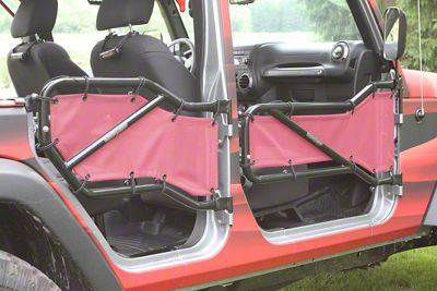 Steinjager Front & Rear Tube Door Covers - Mauve (07-18 Jeep Wrangler JK 4 Door)