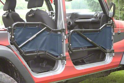 Steinjager Front & Rear Tube Door Covers - Navy (07-18 Jeep Wrangler JK 4 Door)