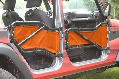 Steinjager Front & Rear Tube Door Covers - Orange (07-18 Jeep Wrangler JK 4 Door)