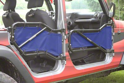 Steinjager Front & Rear Tube Door Covers - Royal Blue (07-18 Jeep Wrangler JK 4 Door)