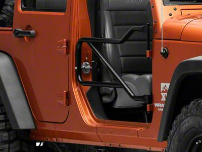 Steinjager Front Trail Tube Doors - Black (07-18 Jeep Wrangler JK)