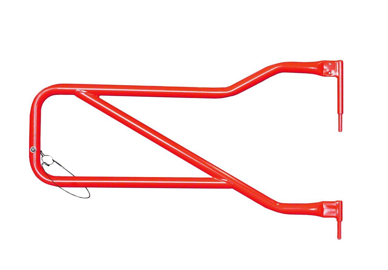 Steinjager Front Trail Tube Doors - Red Baron (07-18 Jeep Wrangler JK)
