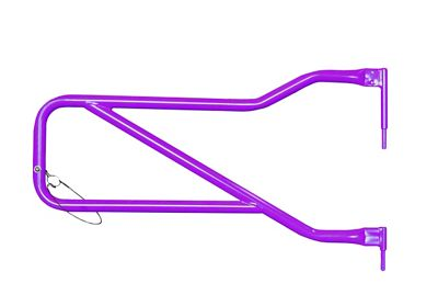 Steinjager Front Trail Tube Doors - Sinbad Purple (07-18 Jeep Wrangler JK)