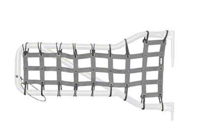 Steinjager Front Tube Door Cargo Net Covers - Gray (07-18 Jeep Wrangler JK)