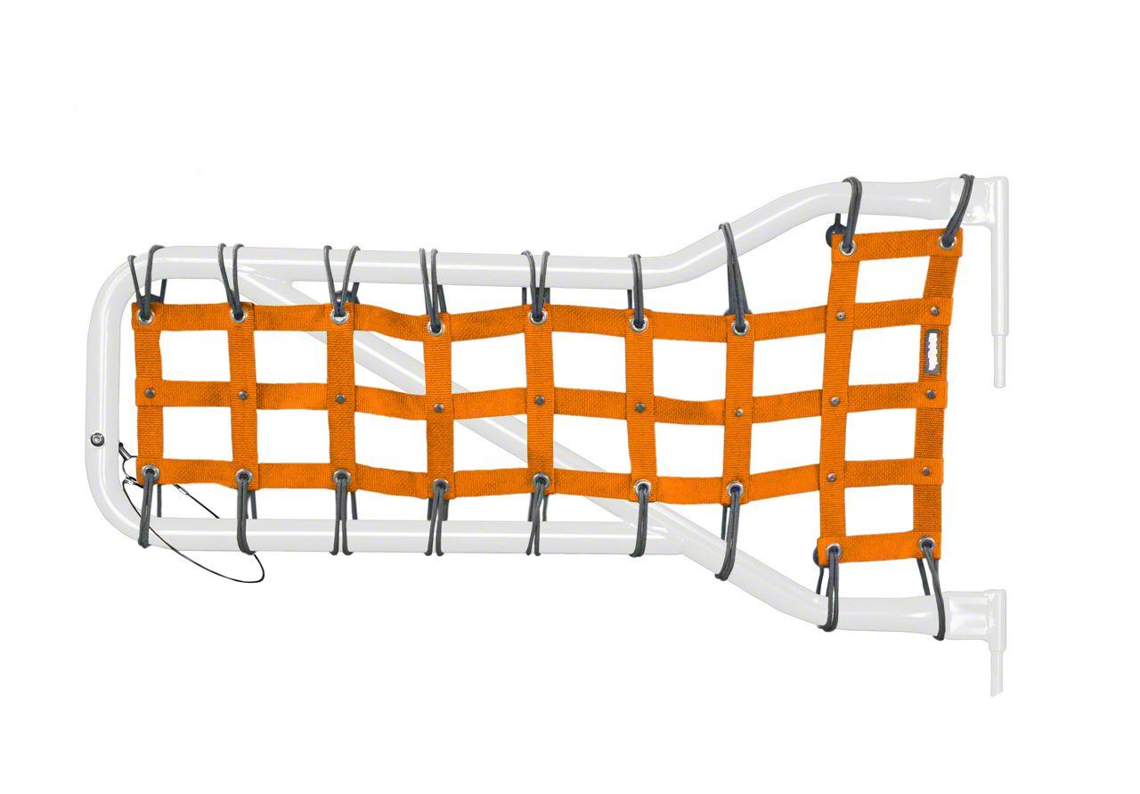 Steinjager Front Tube Door Cargo Net Covers - Orange (07-18 Jeep Wrangler JK)