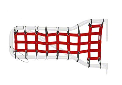 Steinjager Front Tube Door Cargo Net Covers - Red (07-18 Jeep Wrangler JK)