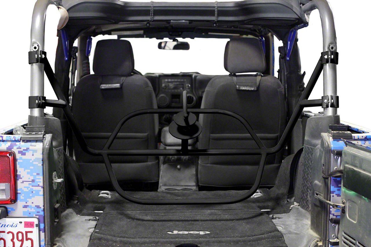 Steinjager Internal Spare Tire Carrier - Bare Metal (07-18 Jeep Wrangler JK 2 Door)