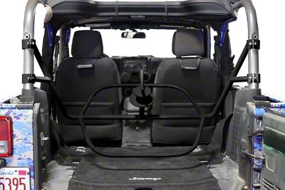 Steinjager Internal Spare Tire Carrier - Black (07-18 Jeep Wrangler JK 2 Door)