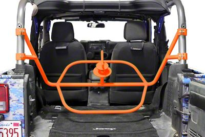 Steinjager Internal Spare Tire Carrier - Fluorescent Orange (07-18 Jeep Wrangler JK 2 Door)