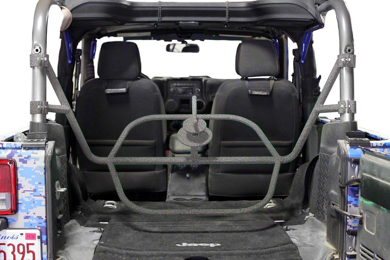 Steinjager Internal Spare Tire Carrier - Gray Hammertone (07-18 Jeep Wrangler JK 2 Door)