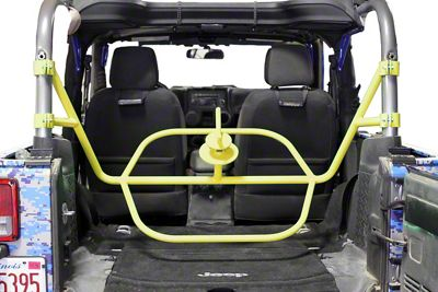 Steinjager Internal Spare Tire Carrier - Lemon Peel (07-18 Jeep Wrangler JK 2 Door)