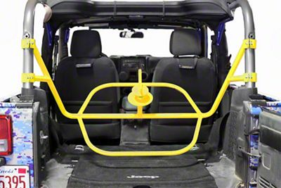 Steinjager Internal Spare Tire Carrier - Neon Yellow (07-18 Jeep Wrangler JK 2 Door)