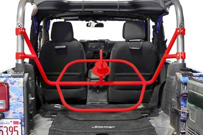 Steinjager Internal Spare Tire Carrier - Red Baron (07-18 Jeep Wrangler JK 2 Door)
