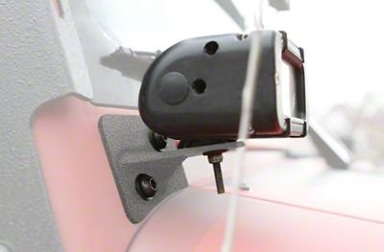 Steinjager LED Light Bars w/ A-Pillar Mounting Brackets - Gray Hammertone (07-18 Jeep Wrangler JK)