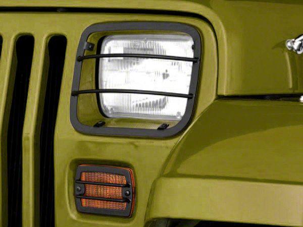 Rugged Ridge 4-Piece Headlight & Turn Signal Euro Guard Kit - Black (87-95 Jeep Wrangler YJ)