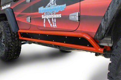 Steinjager Phantom Rock Sliders - Fluorescent Orange (07-18 Jeep Wrangler JK 4 Door)