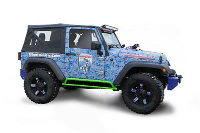 Steinjager Phantom Rock Sliders - Neon Green (07-18 Jeep Wrangler JK 2 Door)