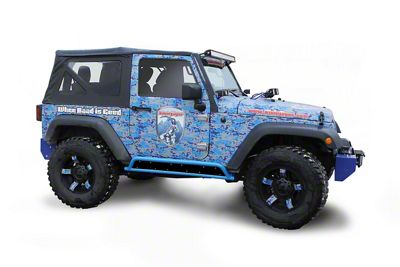 Steinjager Phantom Rock Sliders - Playboy Blue (07-18 Jeep Wrangler JK 2 Door)