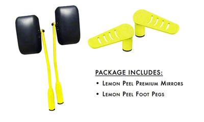 Steinjager Premium Mirror & Foot Peg Kit - Lemon Peel (07-18 Jeep Wrangler JK)