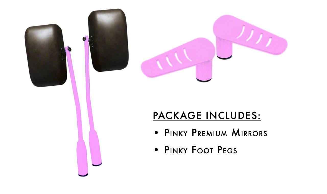 Steinjager Premium Mirror & Foot Peg Kit - Pinky (07-18 Jeep Wrangler JK)