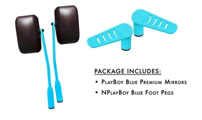 Steinjager Premium Mirror & Foot Peg Kit - Playboy Blue (07-18 Jeep Wrangler JK)