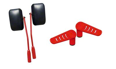 Steinjager Premium Mirror & Foot Peg Kit - Red Baron (07-18 Jeep Wrangler JK)