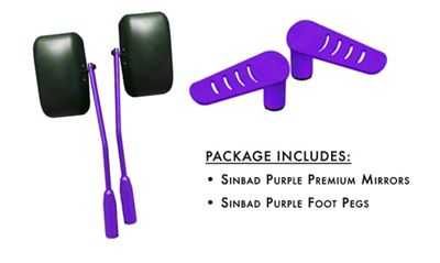 Steinjager Premium Mirror & Foot Peg Kit - Sinbad Purple (07-18 Jeep Wrangler JK)