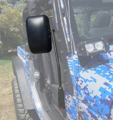 Steinjager Premium Mirror Kit - Textured Black (07-18 Jeep Wrangler JK)