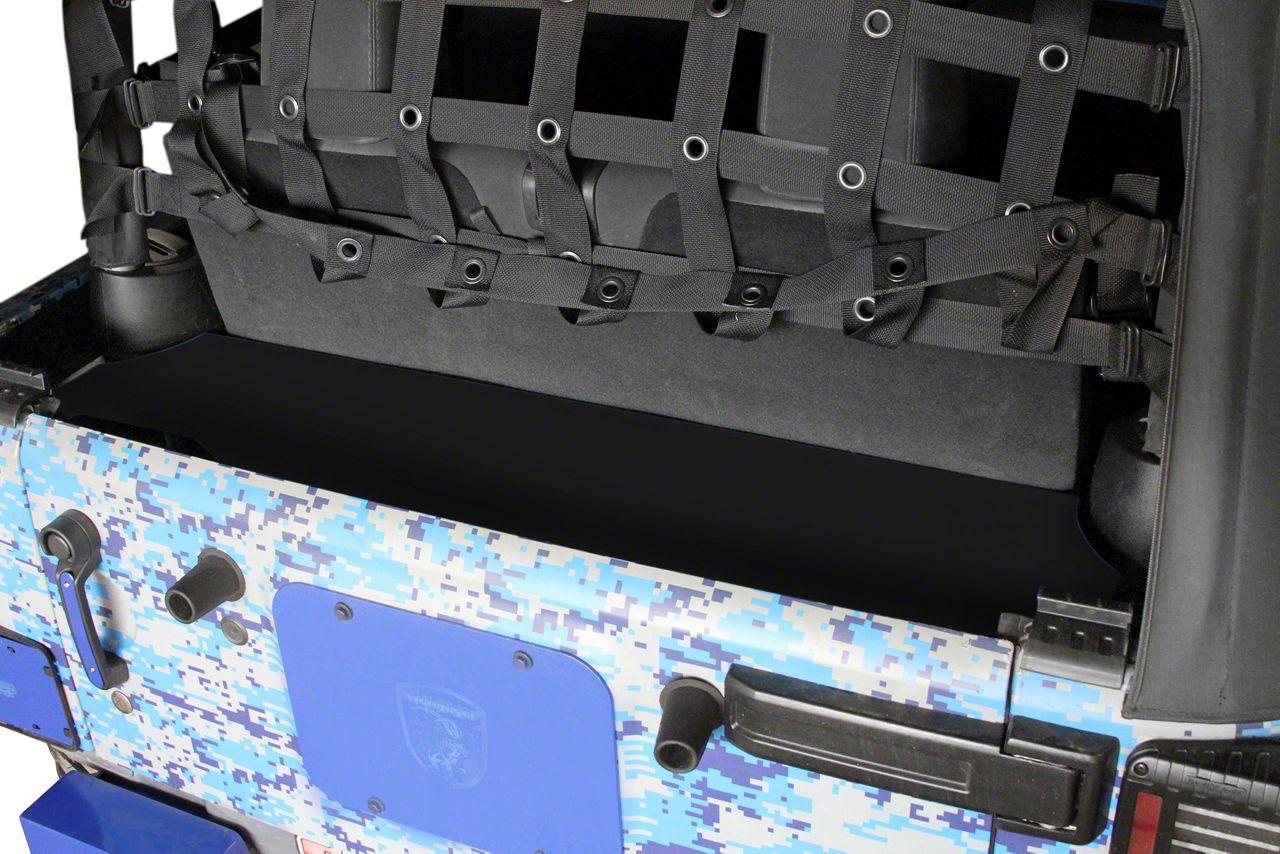 Steinjager Rear Storage Box - Black (07-18 Jeep Wrangler JK 2 Door)