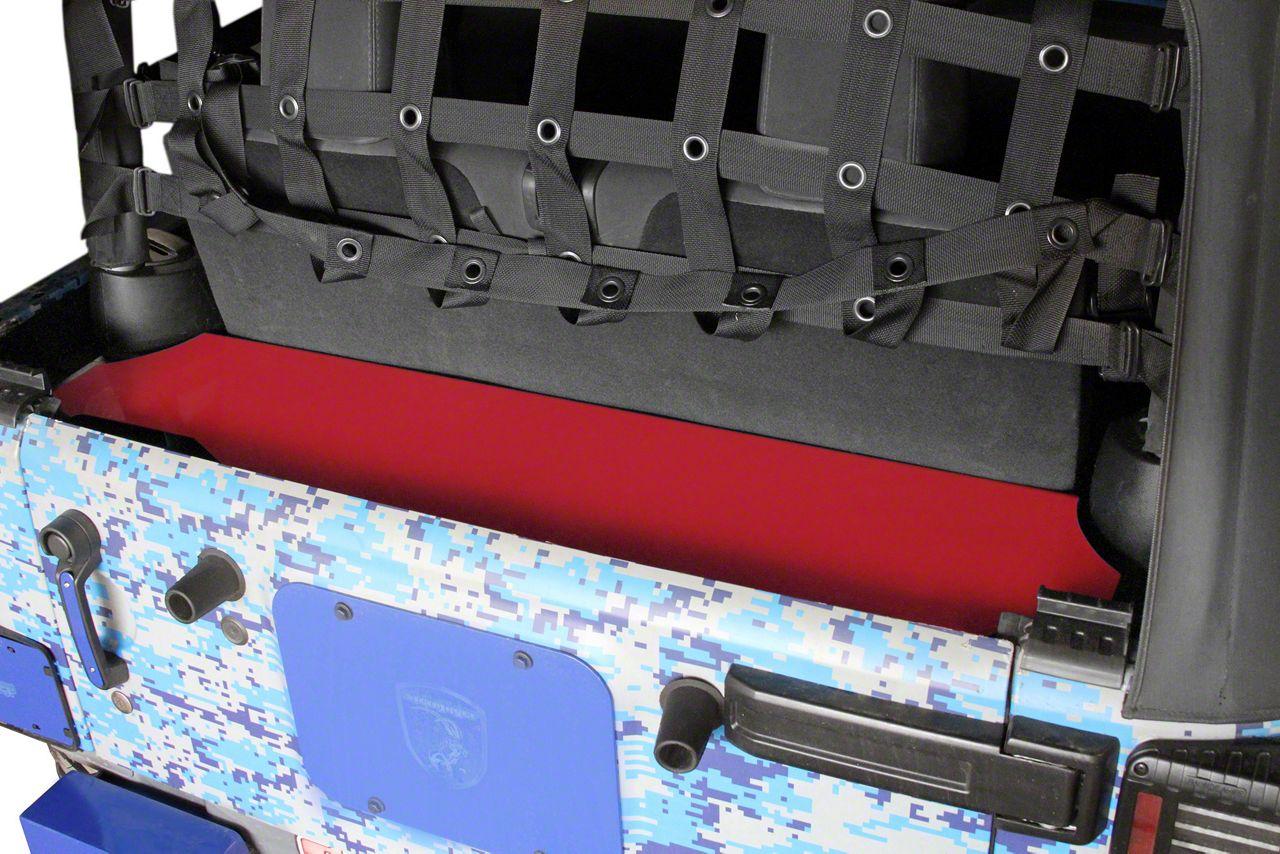 Steinjager Rear Storage Box - Red Baron (07-18 Jeep Wrangler JK 2 Door)