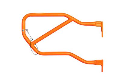 Steinjager Rear Trail Tube Doors - Fluorescent Orange (07-18 Jeep Wrangler JK 4 Door)