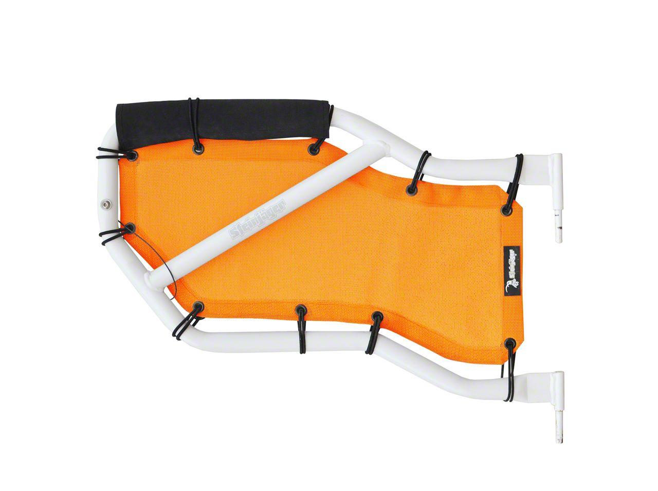 Steinjager Rear Tube Door Covers - Orange (07-18 Jeep Wrangler JK 4 Door)