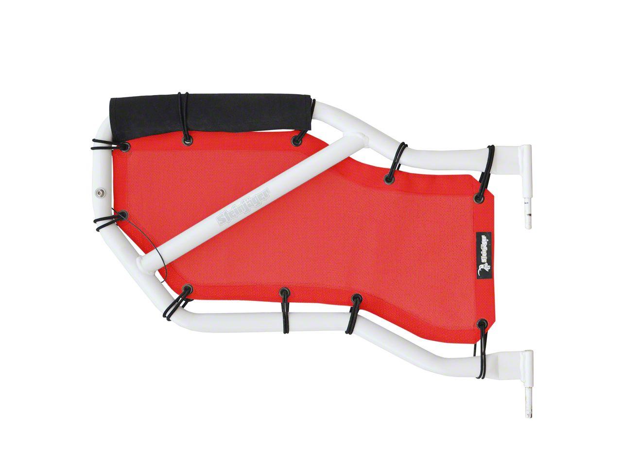 Steinjager Rear Tube Door Covers - Red (07-18 Jeep Wrangler JK 4 Door)