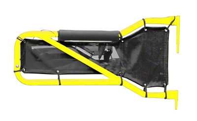 Steinjager Rear Tube Doors - Lemon Peel & Black Mesh (07-18 Jeep Wrangler JK 4 Door)