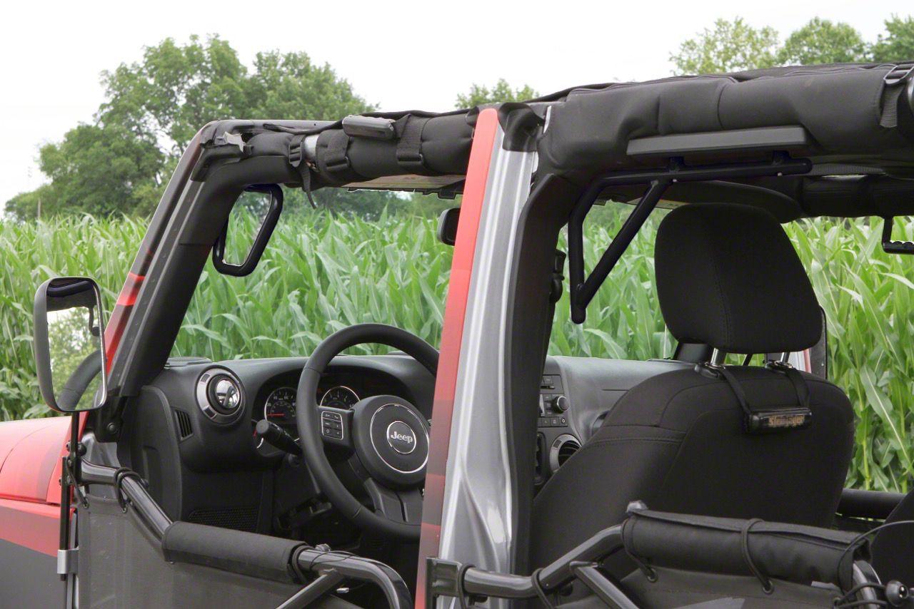 Steinjager Rigid Wire Form Front & Rear Grab Handles - Black (07-18 Jeep Wrangler JK 4 Door)
