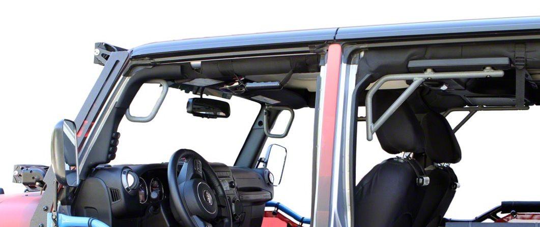 Steinjager Rigid Wire Form Front & Rear Grab Handles - Gray Hammertone (07-18 Jeep Wrangler JK 4 Door)