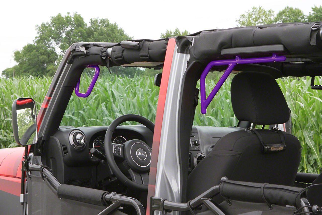 Steinjager Rigid Wire Form Front & Rear Grab Handles - Sinbad Purple (07-18 Jeep Wrangler JK 4 Door)