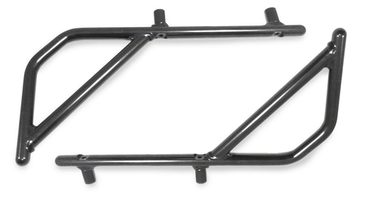 Steinjager Rigid Wire Form Rear Grab Handles - Bare Metal (07-18 Jeep Wrangler JK 4 Door)