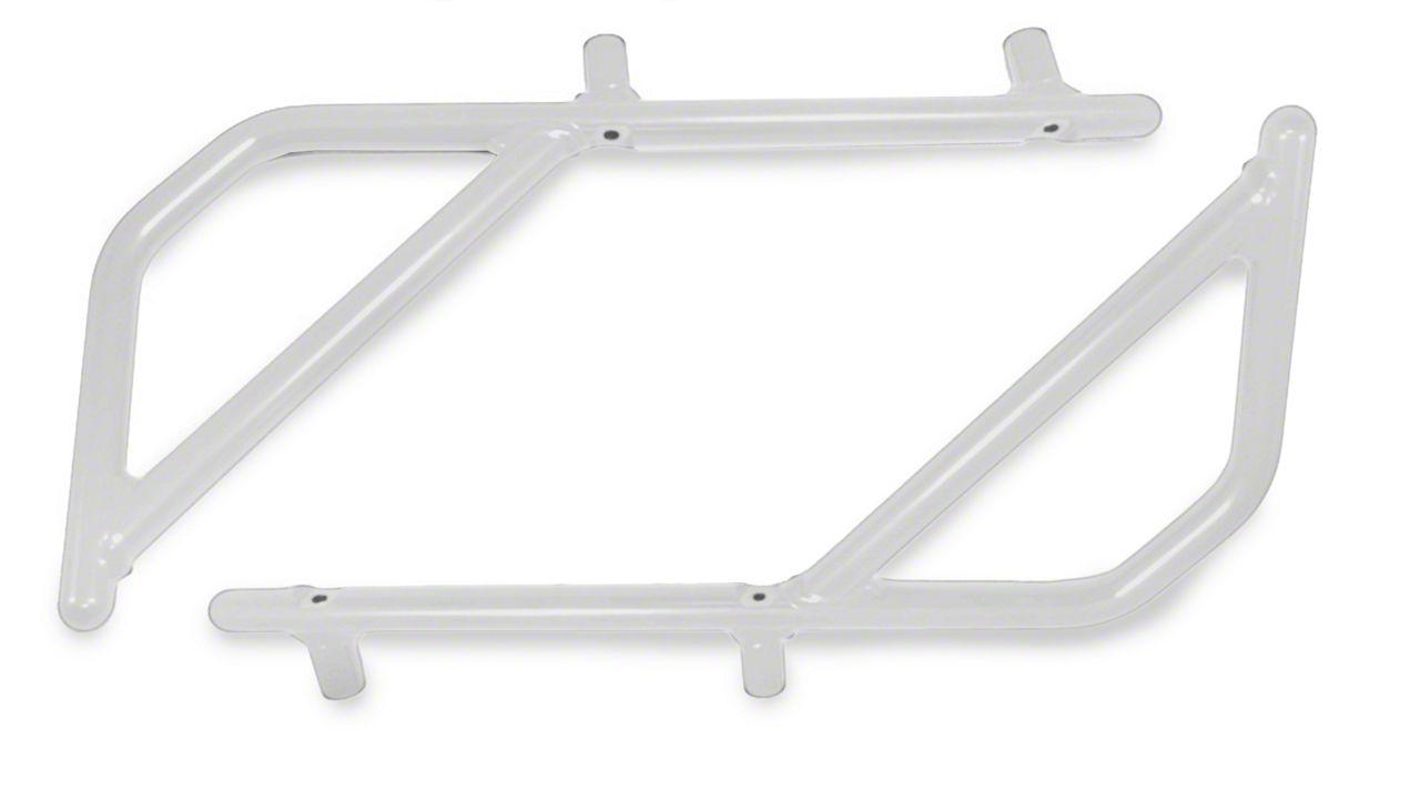 Steinjager Rigid Wire Form Rear Grab Handles - Cloud White (07-18 Jeep Wrangler JK 2 Door)