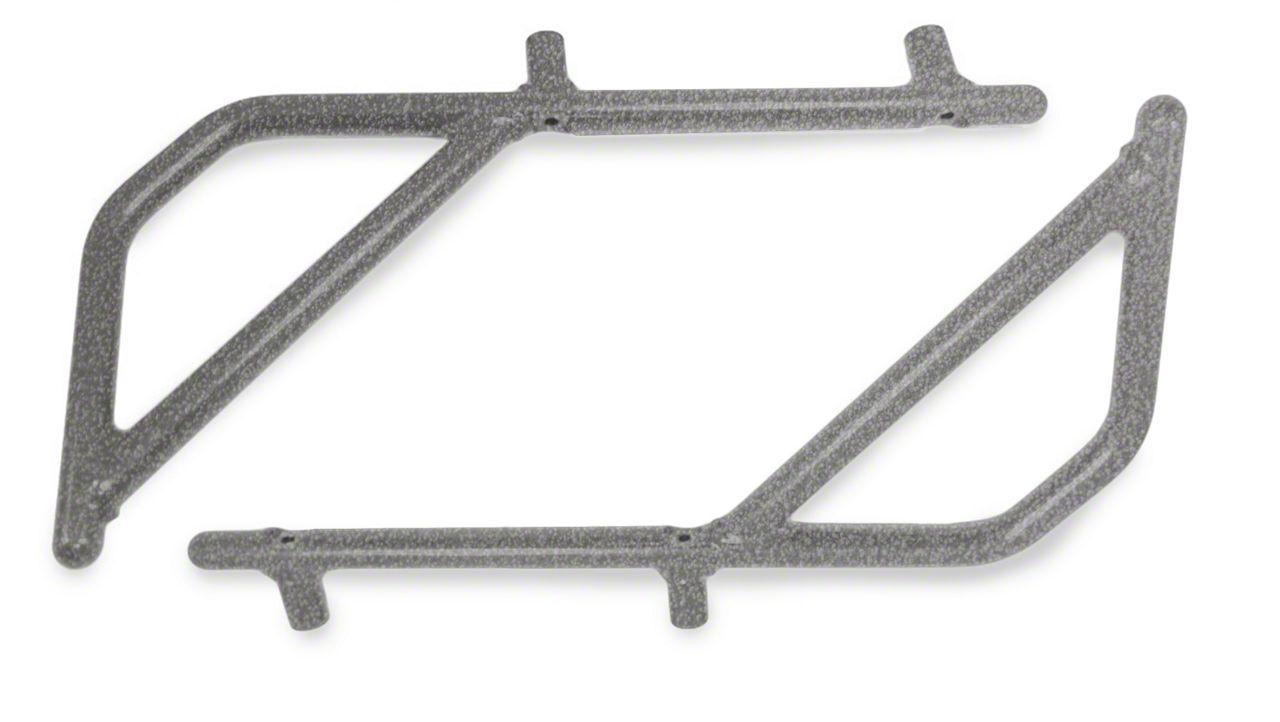 Steinjager Rigid Wire Form Rear Grab Handles - Gray Hammertone (07-18 Jeep Wrangler JK 4 Door)