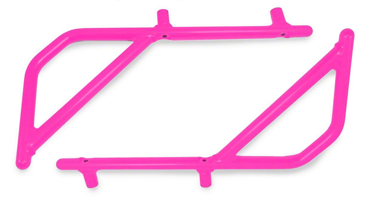 Steinjager Rigid Wire Form Rear Grab Handles - Hot Pink (07-18 Jeep Wrangler JK 4 Door)