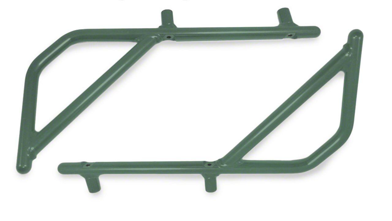 Steinjager Rigid Wire Form Rear Grab Handles - Locas Green (07-18 Jeep Wrangler JK 2 Door)