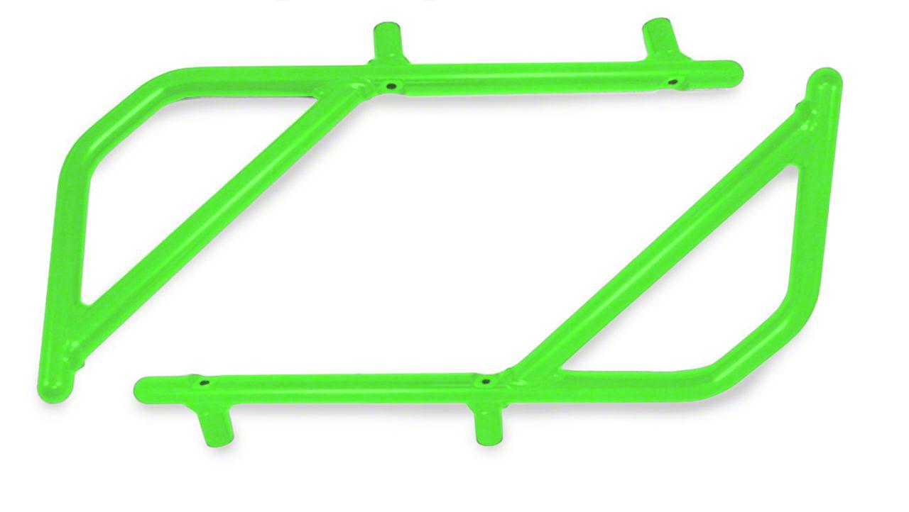 Steinjager Rigid Wire Form Rear Grab Handles - Neon Green (07-18 Jeep Wrangler JK 4 Door)