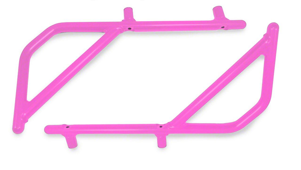 Steinjager Rigid Wire Form Rear Grab Handles - Pinky (07-18 Jeep Wrangler JK 2 Door)