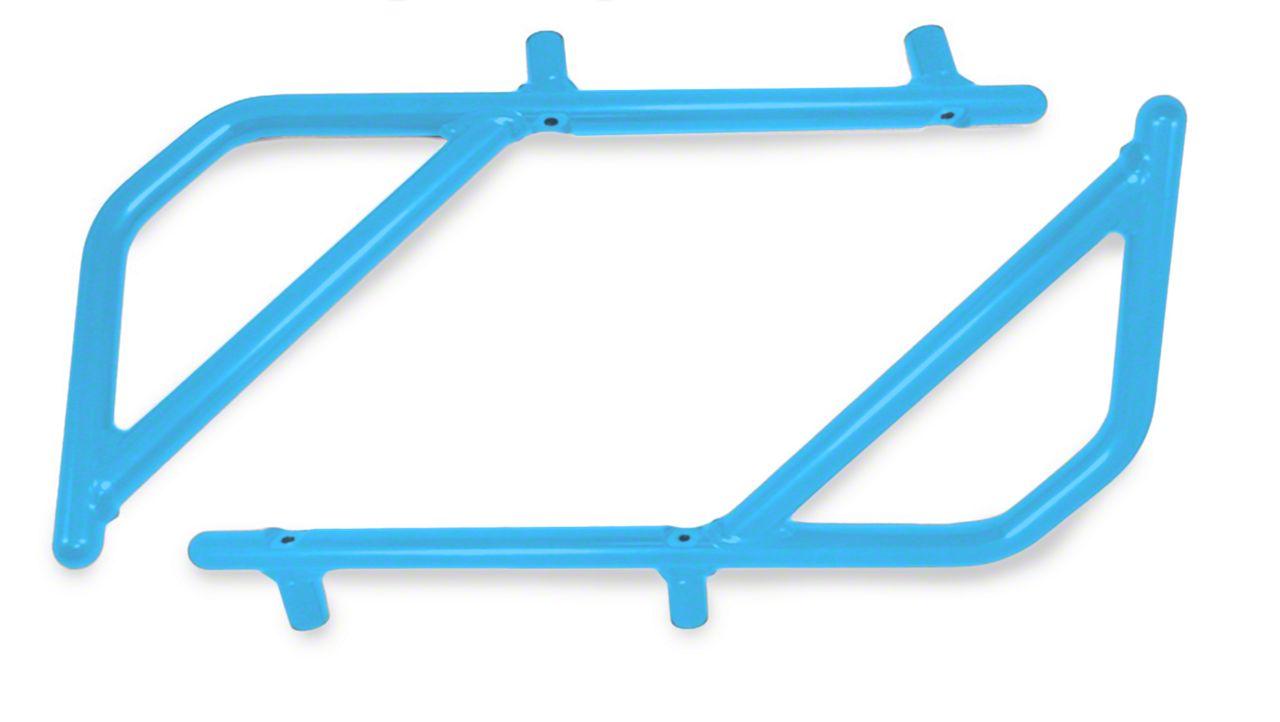 Steinjager Rigid Wire Form Rear Grab Handles - Playboy Blue (07-18 Jeep Wrangler JK 2 Door)
