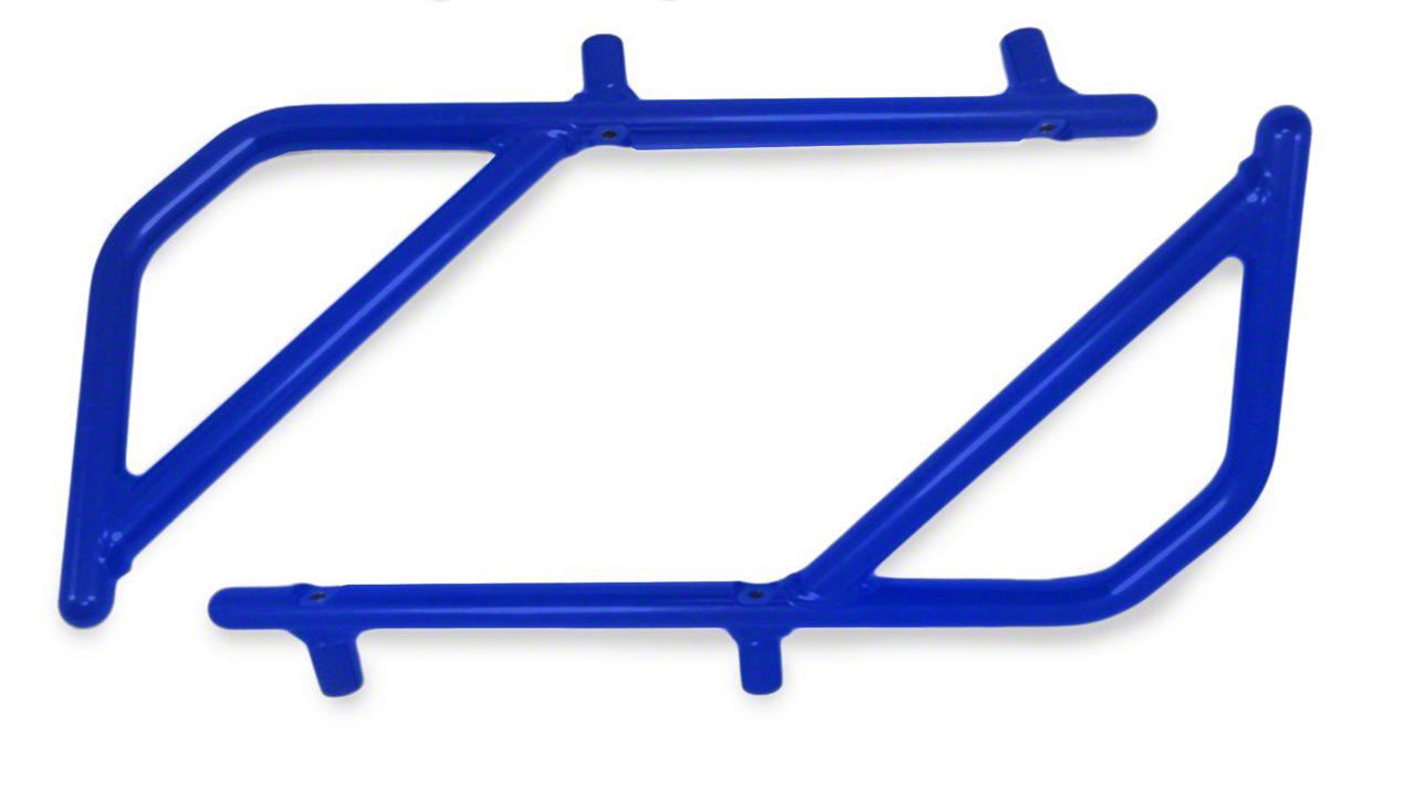 Steinjager Rigid Wire Form Rear Grab Handles - Southwest Blue (07-18 Jeep Wrangler JK 2 Door)